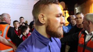 CONOR McGREGOR MAKES AN APPEARANCE @ MGM MARBELLA SHOW IN DUBLIN TO SUPPORT IRISH BOXING