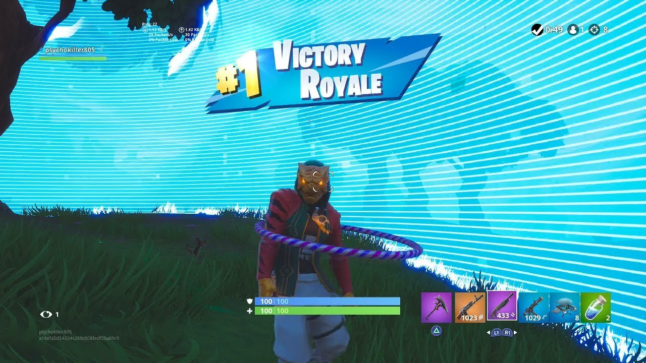Fortnite First Win With Master Key Skin Tiger Mask Outfit