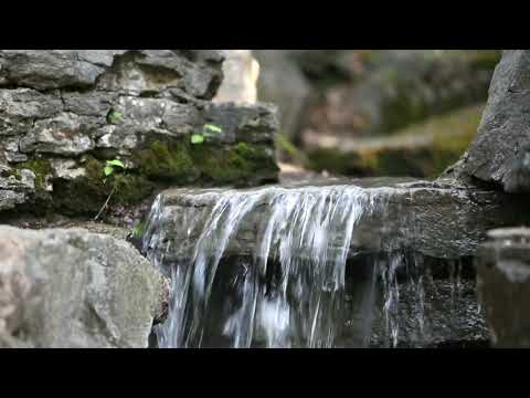 2-hours-relaxing-music-and-calming-4k-waterfall-nature:-sleep-relaxation