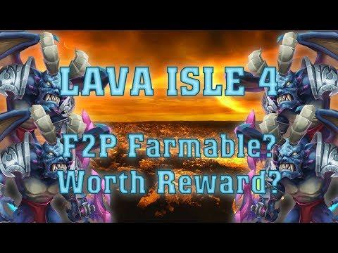 Castle Clash Lava Isle 4: F2P Farm-able? Worth Reward?