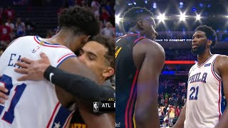 Joel Embiid gives his best respect to the Hawks after game 7