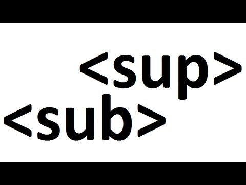 Learn HTML Code: Subscript Superscript