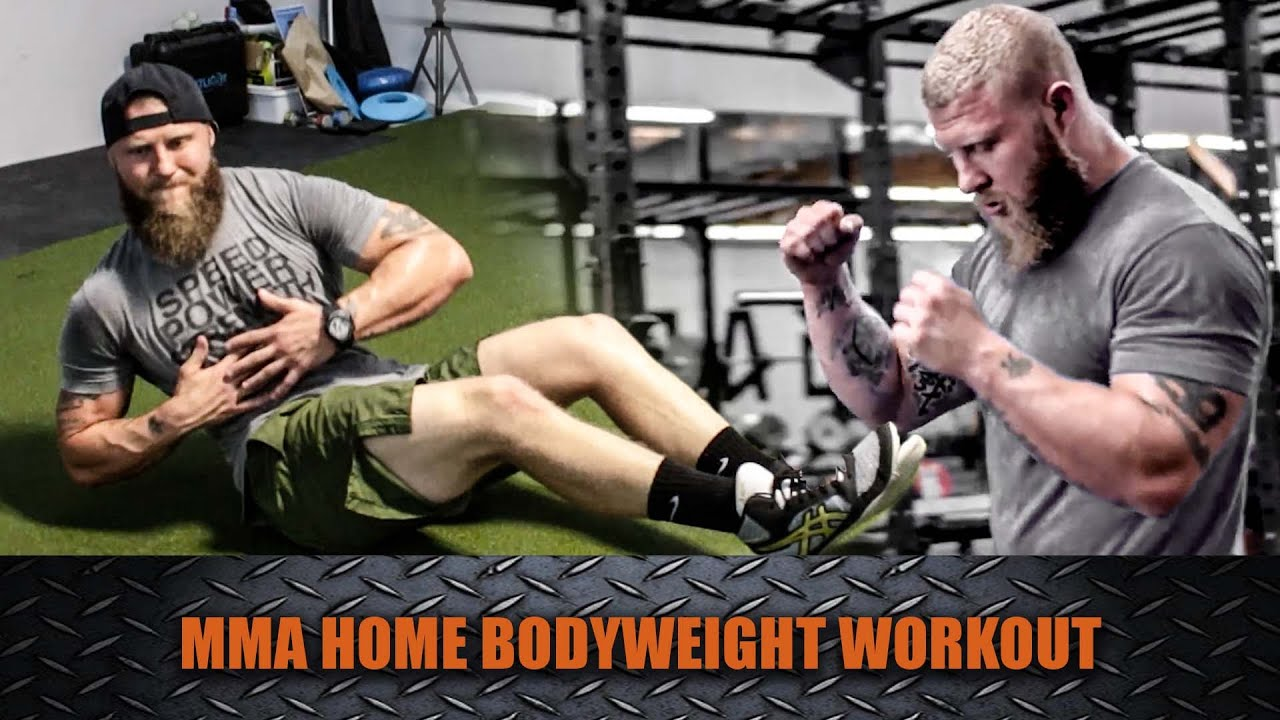 Try This Home Bodyweight Workout For MMA Endurance! | Phil Daru ...