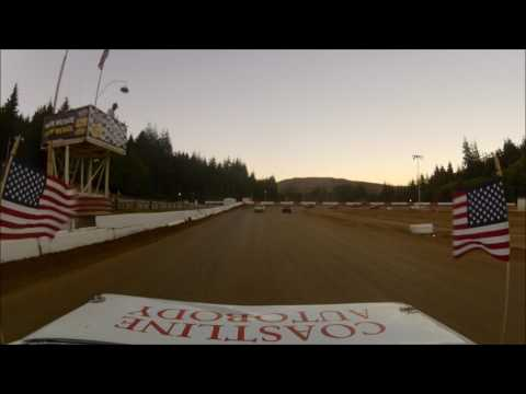 Coos Bay Speedway 7-29-17 Hornet main event rear view