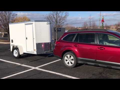 Our New Haulmark Passport 5' x 8' Trailer - Towing us to retirement