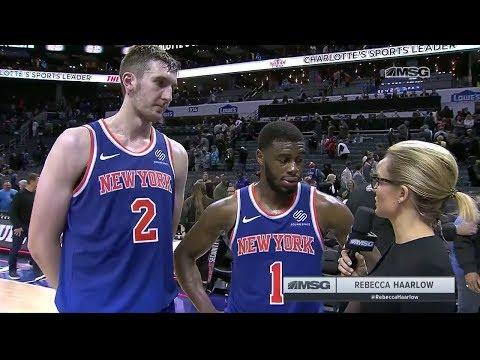 Emmanuel Mudiay and Luke Kornet Reflect on OT Win in Charlotte | New York Knicks Postgame