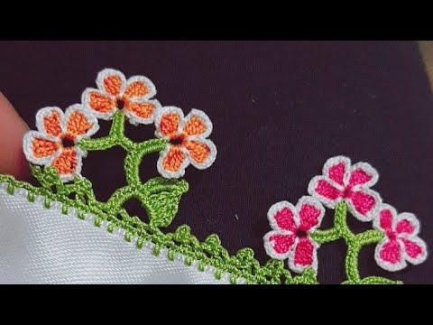 Çok Kolay Dallı Küçük Çiçekler Tığ Oyası Yapılışı Videolu