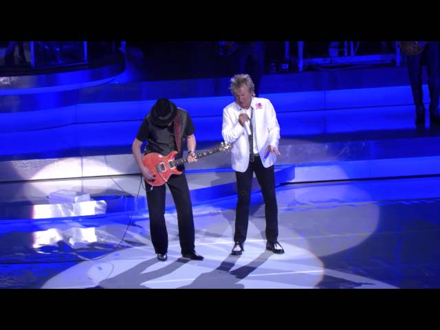Rod Stewart & Santana Perform Live In Las Vegas
