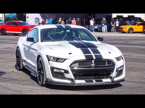 FORD TAKES FORTY 2020 SHELBY GT500s TO THE TRACK AND DRAG STRIP! (Official Launch)