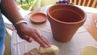 Home Decor: Shabby Pots!