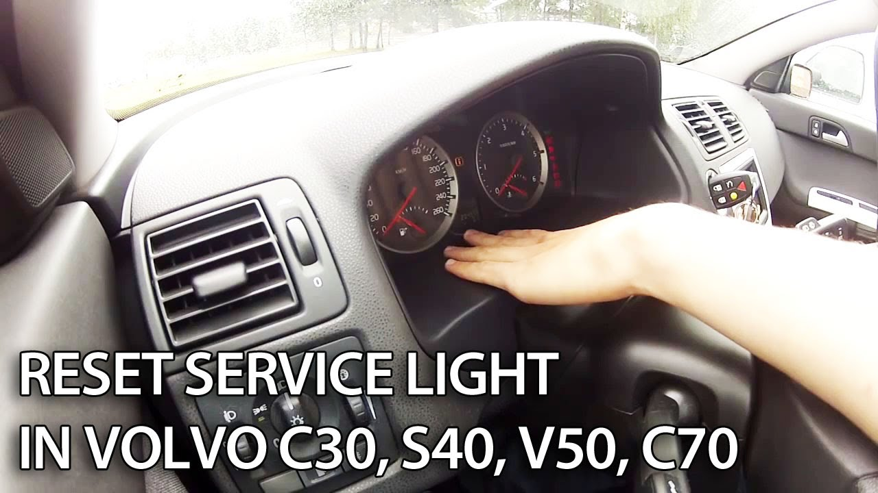 Reset Service Maintenance Message in Volvo V50, S40, C30, C70