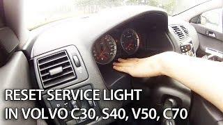 How to reset SRI service reminder indicator in Volvo V50 S40 C30 C70 S60 S80 V70 (SRL maintenance)