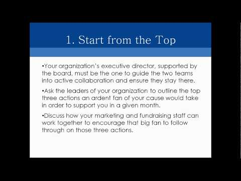 Combining Online Fundraising and Marketing Teams