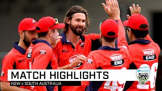 Highlights: New South Wales v South Australia, Marsh One-Day Cup 2019