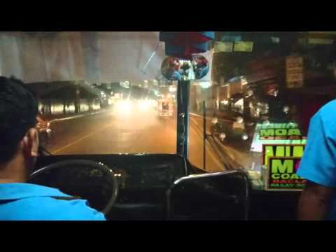 Philippines, Quezon City, bus experience by night
