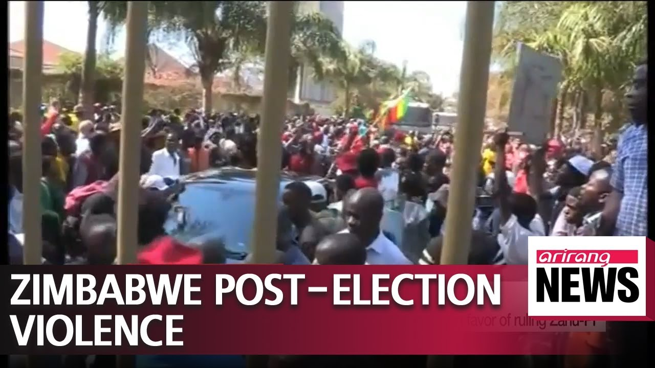 Three die in Zimbabwe amid violent clash over ruling party election victory.