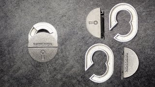 Hanayama Padlock puzzle. Unboxing and solution.
