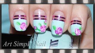 Маникюр Розы - рисунки на ногтях | Roses nail art(Из видео-урока вы узнаете, как нарисовать розы на ногтях с помощью акриловых красок. Для маникюра использов..., 2014-09-10T13:35:35.000Z)