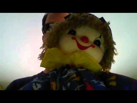 Cacos Windup Musical Clown Doll