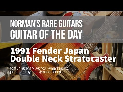 Norman's Rare Guitars - Guitar of the Day: 1991 Fender Japan Double Neck Stratocaster