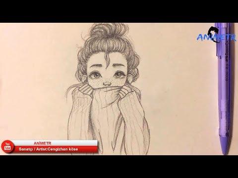 Anime Yüz Çizimi -9 / Drawing Anime Girl -9