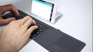 퓨전FNC INOTE X-Folding Laser Touch 블루투스 키보드 타건 영상