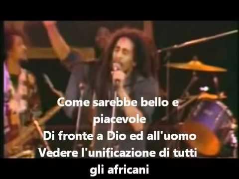 Bob Marley-Africa Unite (Traduzione in Italiano) live in Santa Barbara 1979.wmv