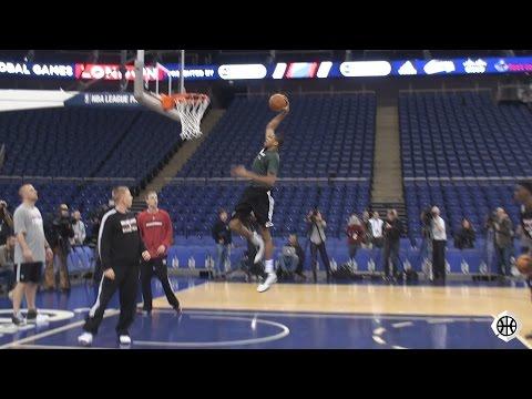Giannis Antetokounmpo Post Workout - NBA London 2015