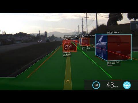 Tesla Autopilot Urban Environment 360 Degree Visualization.