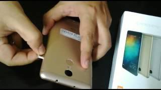 Insert sim in Xiaomi RedMI note 3 phone
