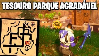 TREASURE MAP IN NICE PARK-Fortnite challenges Week 7 (Battle pass 4)
