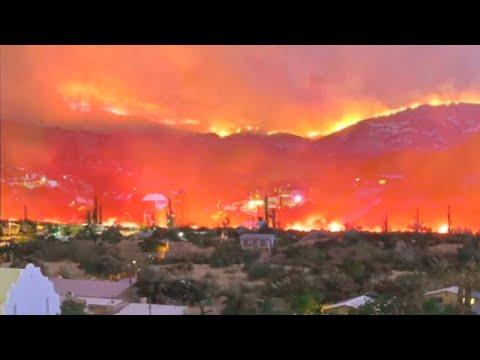 EVACUATION🔥 Two HUGE Wildfires rage in Arizona, USA. Mescal Fire, Telegraph Fire
