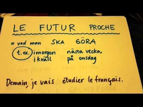 Franska   Genomgång av hur man böjer verb i futur proche