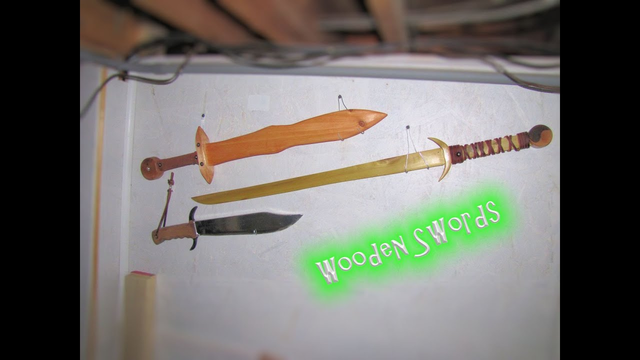 Making a wooden sword for fun - from pallet wood ! - YouTube