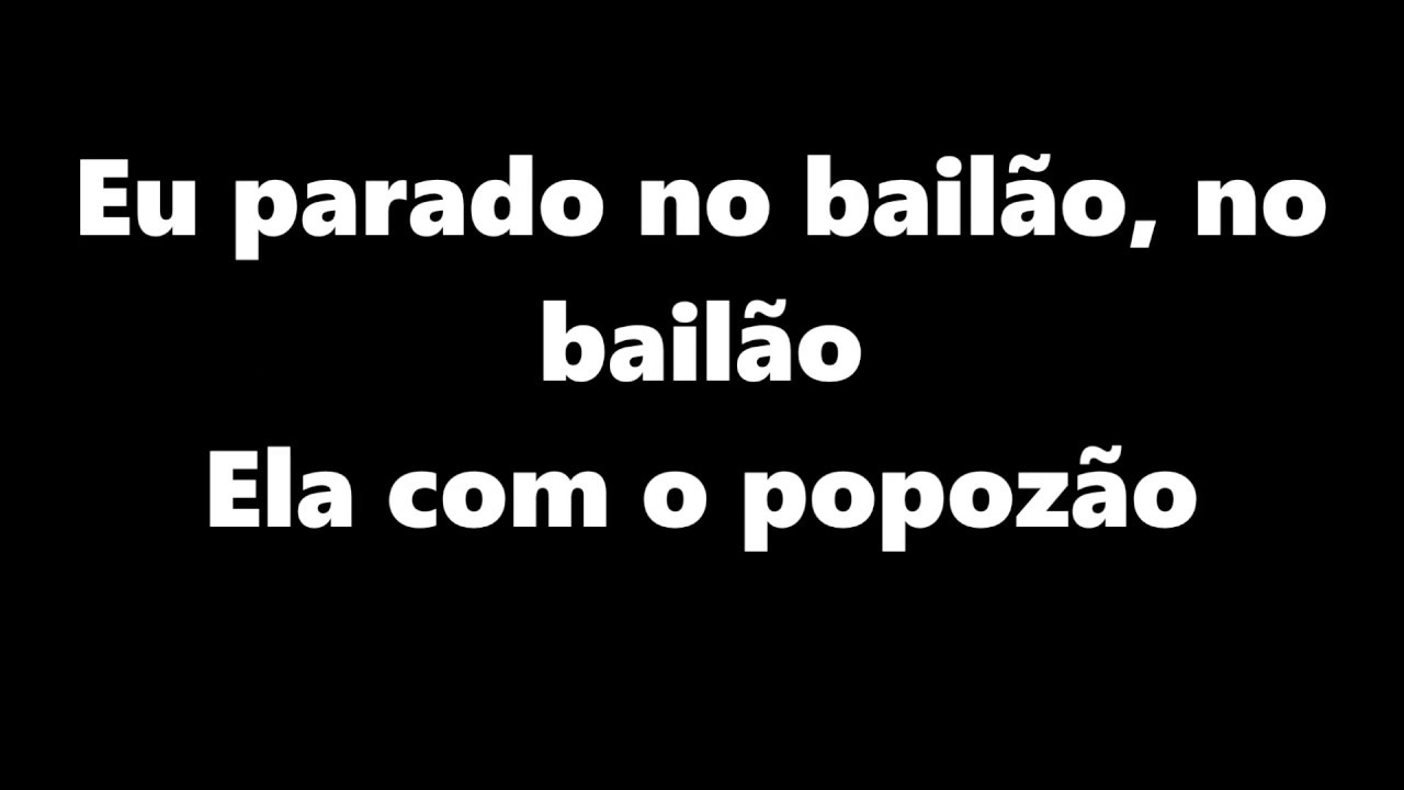 A Música Eu Parado No Bailão mc l da vinte e mc gury - parado no bailão (letra) oficial