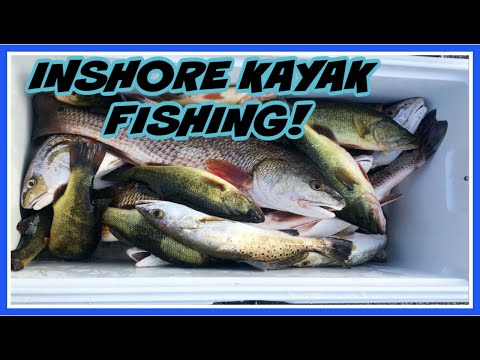 INSHORE KAYAK FISHING! Redfish, Bass, Trout, Sheepshead DEEP In The Marsh! (Shell Beach, LA)