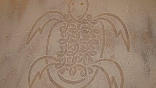 How to draw a turtle in the sand (Vanuatu)