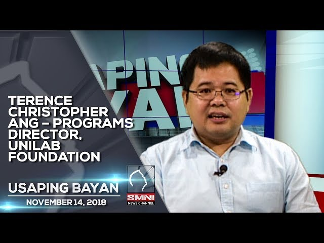 TERENCE CHRISTOPHER ANG – PROGRAMS DIRECTOR, UNILAB FOUNDATION USAPING BAYAN