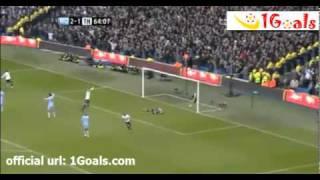 Gareth Bale Goal vs Manchester City 22/01/2012
