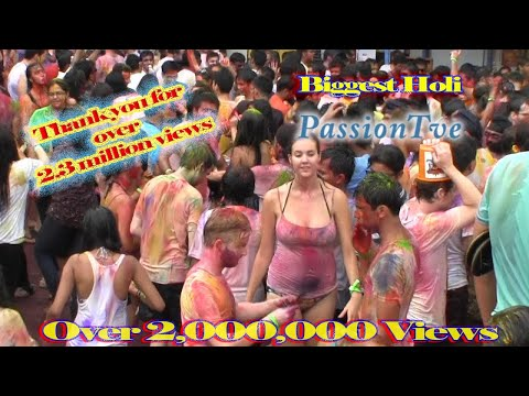 Holi Festival of Colors celebration Singapore HD | The PassionTve