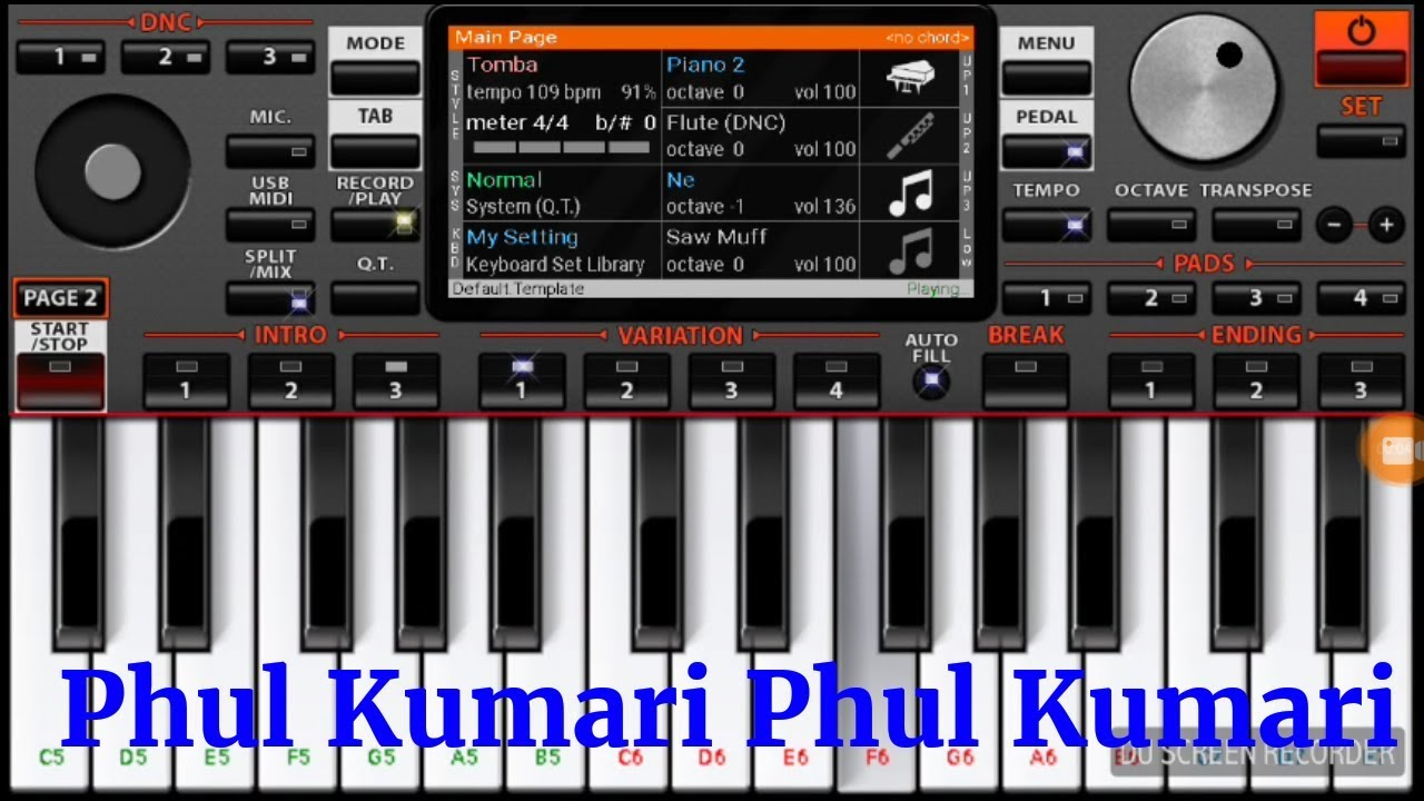 phul kumari nagpuri song piano cover on organ 2019 youtube
