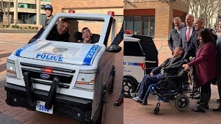 Son of Officer with Cerebral Palsy Gets Custom NYPD Cruiser For Wheelchair