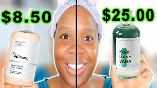 The Ordinary Glycolic Acid vs. Krave Beauty Kale Lalu YAHA! BEST Glycolic Acid Toner
