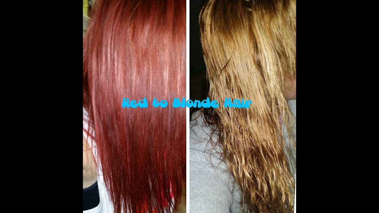 How to go from red to blonde hair in one day youtube urmus Gallery