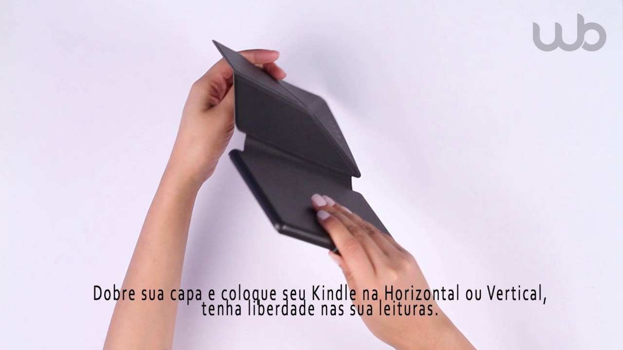 e1507907c38b0 Capa Kindle 8 Geração WB Origami Auto Liga-Desliga - YouTube