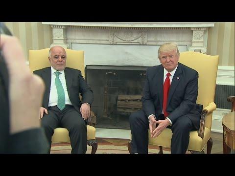 Trump welcomes Iraq's Prime Minister Haider al-Abadi