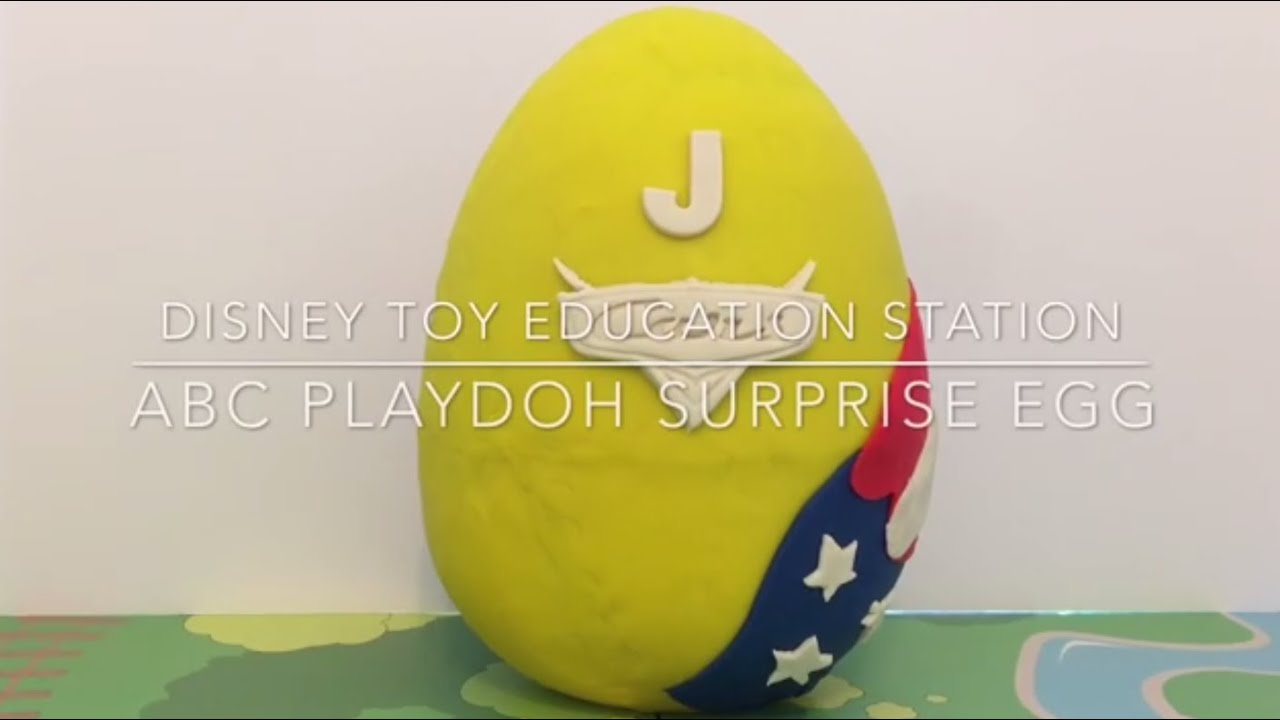 Disney Pixar Cars ABC Playdoh Surprise Egg The Letter J