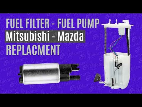 How to Replace Fuel Pump | Fuel Filter Replacement on Mitsubishi Outlander ASX Lancer EVO Mazda car