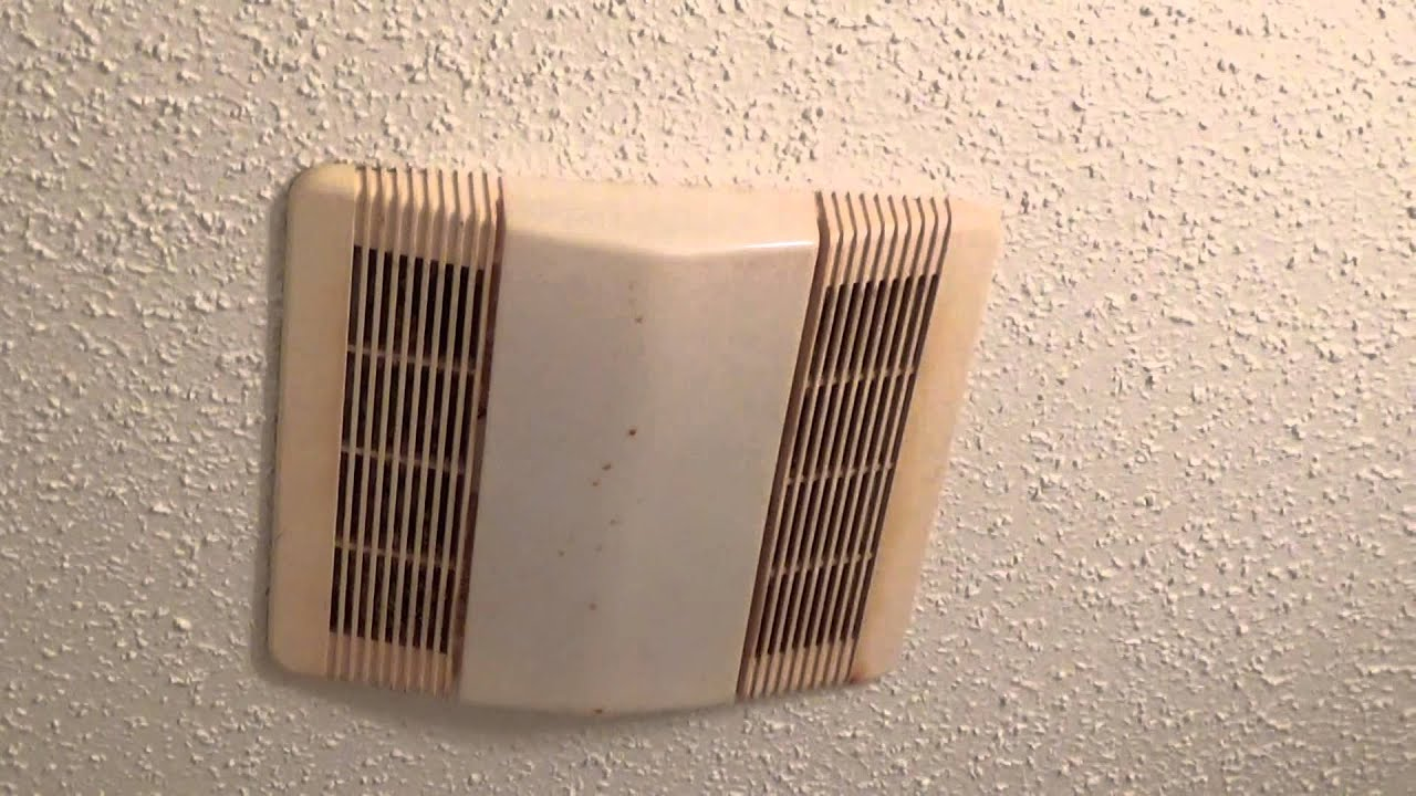 Nu Tone Vent A Lite Bathroom Fan Model 763rl Youtube
