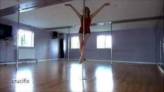 Beginner pole fitness moves.wmv